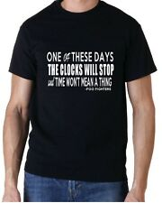 """Foo Fighters Letra """"One Of These Days """" Música Rock Camiseta"""