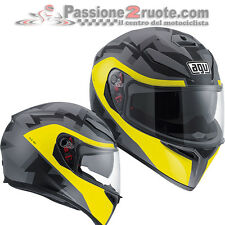Casco integral Agv K3 sv Camodaz black matt amarillo