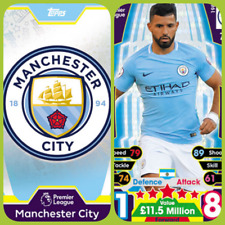 Match Attax 17 18 Manchester City - Team Cards - Star Player - Club Badge