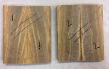 Curly grain Mediterranean olivewood bookmatched knife scale / knife handle sets