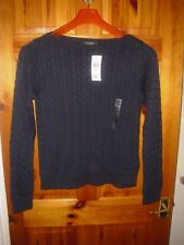 Ralph Lauren Shabti boatneck pullover sweater in navy 2 sizes RRP: 89-100 GBP