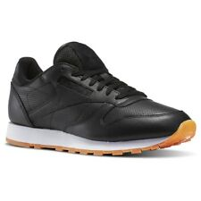 REEBOK CLASSIC LEATHER PG BLACK WHITE GUM TRAINER SHOE SIZE 7 8 NEW