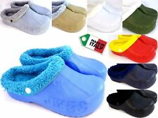 PANTOFOLE CIABATTE CLOG CLOGS ZOCCOLI GOMMA Pelliccia Invernale MADE IN ITALY