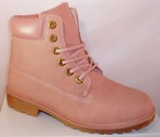 CHAUSSURE MONTANTE BASKET FEMME BOTTE BOTTINE ROSE CUIR SY BOOTS 36 37 38 39 40