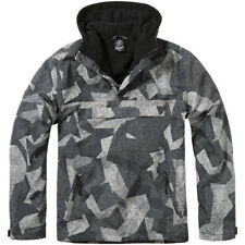 Brandit Militare Hooded Windbreaker Uomo Giacca Anorak Night Digital Camo