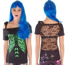 JAWBREAKER SKELETON BUTTERFLY LONG T SHIRT DRESS TOP GOTH  ALTERNATIVE