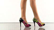 Iron Fist Sabre Tooth Viper Peep Toe Ladies Shoes - Brand New -Retro/Psychobilly
