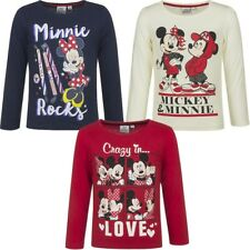 T-Shirt Manches Longues MINNIE MOUSE DISNEY Enfant Fille 100% Coton !!! HQ1076