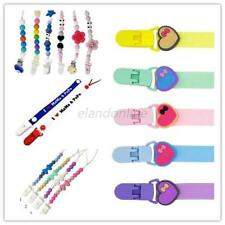 New Baby Silicone Pacifier Holder Clip Chain Infant Dummy Nipple Teether Straps