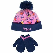 Kids Peppa Pig Hat and Mittens Winter Set | Girls Peppa Pig Hat and Glove Set