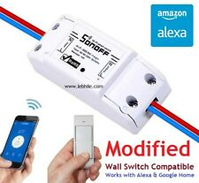 Wall Switch Compatible Sonoff Wifi Smart Switch for Android iOS & Amazon Alexa
