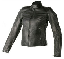 Giacca pelle donna moto Dainese Mike nero vintage scramber retro cafe racer
