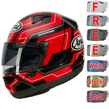 Arai QV-Pro Place Red Motorcycle Helmet- Free Visor Worth £69.99