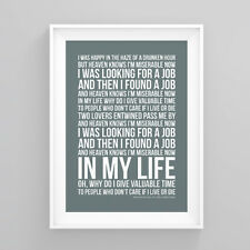 The Smiths Heaven Knows I'm Miserable Now Lyrics Poster Print Wall Song Artwork