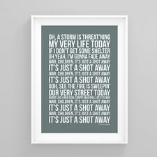 Rolling Stones gimme shelter Lyrics Poster Print Wall Song Artwork
