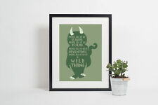 Inside all of us is a wild thing childrens bedroom poster