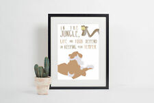 Jungle Book - In the jungle life and food depend on keeping your temper Poster