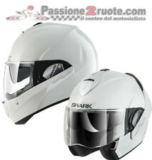 Helmet moto Shark Evoline 3 blanco reversible casco modular helm jet convertible