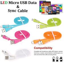 LED Light Micro USB Fast Charger Lead Data Sync Cable for Samsung HTC Sony Nokia