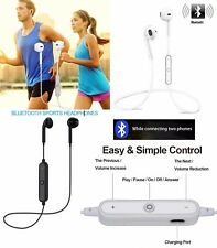 Sweatproof Wireless Bluetooth 4.1 Earphone Headphone Sport Gym Stereo Headset UK