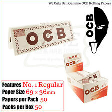 NORMAL papeles de liar - OCB WHITE LABEL 5/10/20 & 50 Caja Llena Gran Valor