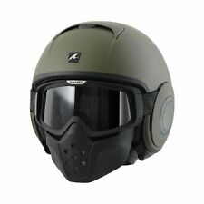 Helmet moto Shark Raw Drak military green matt verde casque helm