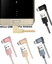 Angle 90 degree Micro USB 2.0 5pin Charge Charging Sync Data Cable for samsung