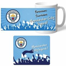 Personalised Manchester City Signed Legend Mug & Mouse Mat Christmas Offer