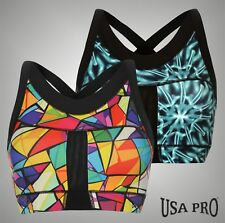 Ladies Branded USA Pro Stylish Long Length Sports Gym Training Crop Top