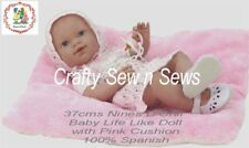 Spanish Baby Dolls by Nines d'Onil Reborn/Life Like Doll with Pillow - 37cms
