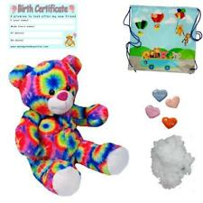 "BRIGHT RAINBOW BEAR 16""/40cm BUILD A TEDDY BEAR MAKING KIT - T-SHIRT/SOUND BOX"
