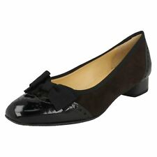 Ladies Peter Kaiser Low Wedge Shoes With Bow Trim 'Nesta'