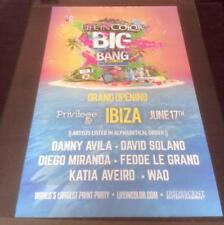 LIFE IN COLOR @ PRIVILEGE - IBIZA CLUB POSTERS 2015 - UV PAINT PARTY HOUSE MUSIC