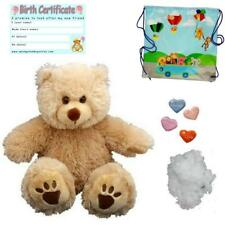 """FLUFFY BEIGE BEAR 16""""/40cm BUILD A TEDDY BEAR MAKING KIT with scent"""