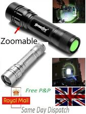 Zoomable 3000 lm 3 modes CREE XML T6 LED 18650 LAMPE TORCHE Focus Torche - UK