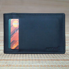 Real Leather Bifold ID Credit Card Wallet Slim Pocket Card Case Holder Wallet