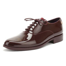 Lemon Jelly Womens Wine Burgundy Red Jeny Oxford Shoes PVC Lace Up Casual Ladies