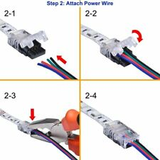 Hippo-M 4pin 10mm Wire to Strip Connector For RGB IP20 NonWaterproof LED Tape