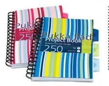 A4 / A5 PUKKA PAD Pink or Blue Stripes Project Book 250 pages 80gsm Wirobound