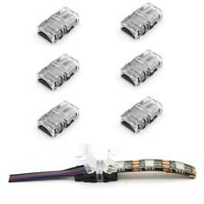 WIRE CONNECTORS SNAP CLIP FIT 8mm 10mm RGB 2Pin 3Pin 4Pin LED STRIP PCB ADAPTERS
