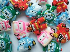SHOE CHARMS (D5) - inspired by ROBOCAR POLI