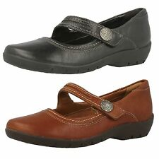 Mujer Clarks ordell BECCA Marrón O Casual negros de piel Mary Jane STYLE Zapatos