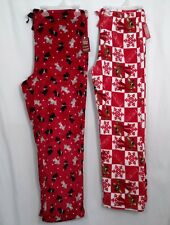 LADIES NWT CHRISTMAS SLEEP PANTS RUDOLPH OR SCOTTIES SIZE 2X OR LARGE