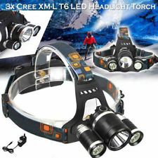 12000LM T6 3x CREE XM-L LED Headlamp Head Torch Rechargeable Headlight (4) S349