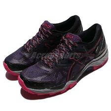 Asics Gel-FujiTrabuco 6 G-TX Gore-Tex Black Purple Women Trail Running T7F5N3390