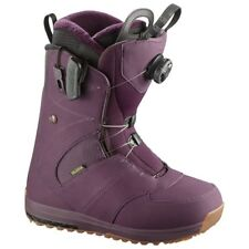 Chaussures Femme Snowboard Boot Woman SALOMON IVY BOA STR8JKT Bordeaux 2018