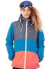 Protest Fjord Blue Clear Womens Snowboarding Jacket