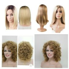 Straight  and Curly blonde sythetic wigs ,short and long .