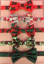 CHRISTMAS BOW TIES / DIAMANTE DICKIE BOWS / FREE POSTAGE