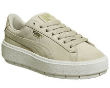 Womens Puma Suede Platform Trace Trainers SAFARI MARSHMALLOW Trainers Shoes
